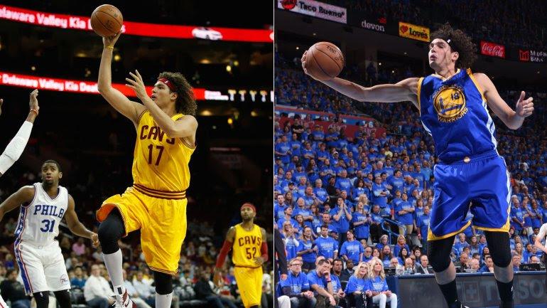 Anderson Varejao defendió las camisetas de Cleveland Cavaliers y Golden State Warriors esta temporada en la NBA