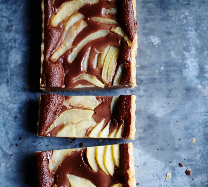 Pear & Nutella Tart