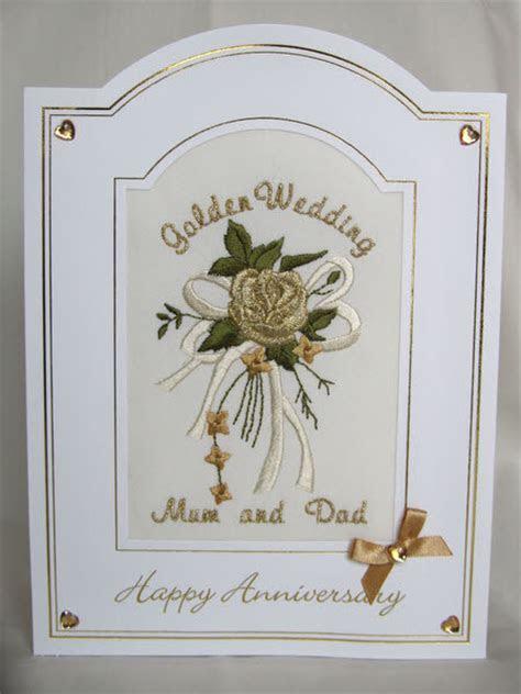 Golden Wedding Anniversary Card   Rose Bouquet   Anniversary