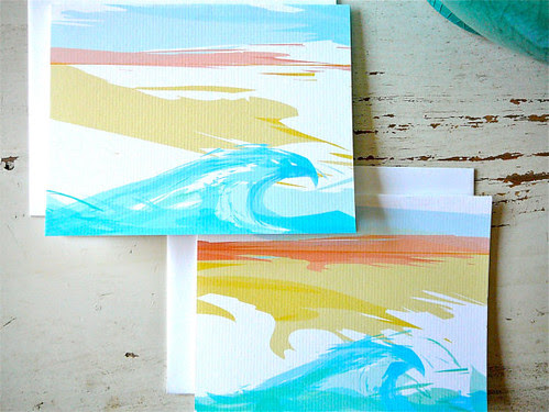 Waves Note Cards