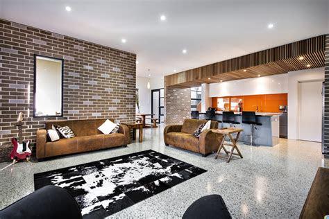 house decorated  brick veneer    modern