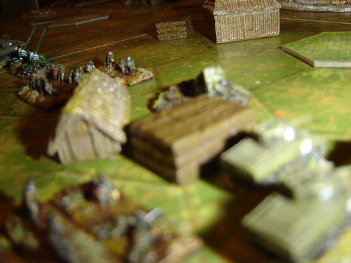American right flank, supported by 105s repulses attack - Battle near Beach Green 3