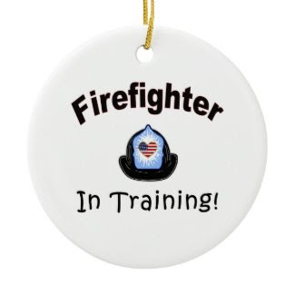 Firefighter In Training ornament