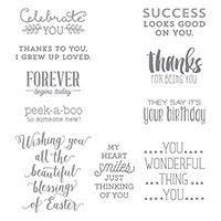 Suite Sayings Wood-Mount Stamp Set by Stampin' Up!