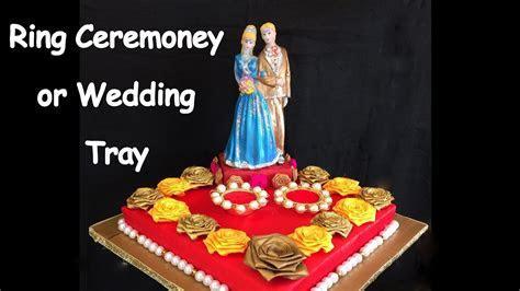DIY   How to make decorative ring ceremoney/ wedding tray