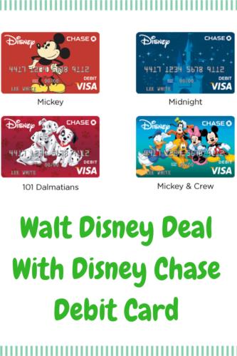 Walt Disney Deal With Disney Chase Debit Card