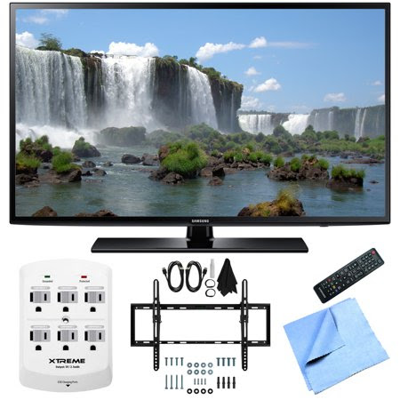 Samsung UN50J6200 50-Inch Full HD 1080p 120hz LED HDTV Flat & Tilt Wall Mount Bundle includes 50-Inch HD TV, Flat & Tilt Wall Mount Bundle, 6 Outlet Wall Tap w\/ 2 USB Ports and Beach Camera Cloth