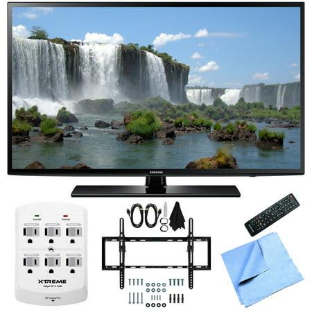 Samsung UN50J6200 50-Inch Full HD 1080p 120hz LED HDTV Flat & Tilt Wall Mount Bundle includes 50-Inch HD TV, Flat & Tilt Wall Mount Bundle, 6 Outlet Wall Tap w\/ 2 USB Ports and Beach Camera Cloth