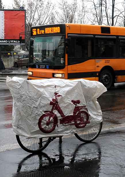 Bicicletta sotto la pioggia