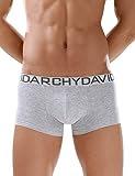 (デヴィッド・アーキー)DA男性パンツ CLASSICシリーズ 綿 立体成型ボクサー 4枚組(L,グレー) [並行輸入品]