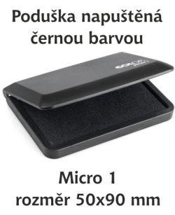 Černá razítkovací poduška Micro 1
