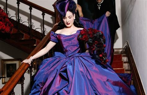 Dita Von Teese's Wedding Dress   RebelCircus.com
