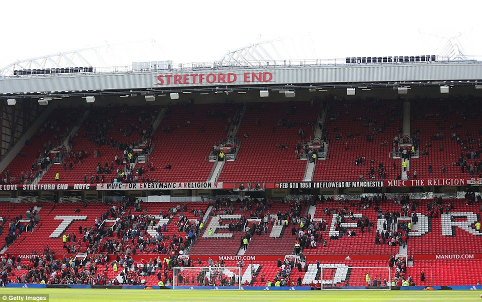 Old Trafford was evacuated just minutes before kick-off due to a security alert when officials discovered a suspicious package in a toilet