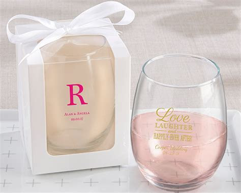 Personalized 9 oz. Stemless Wine Glass   Party Favors by