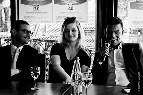 """Arash Derambarsh, Cécile Bianconi et Yassine Bouzrou avec le Club """"Courbevoie 3.0"""" by Arash Derambarsh"""