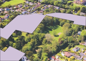 Knowle site AFTER proposed plans by EDDC