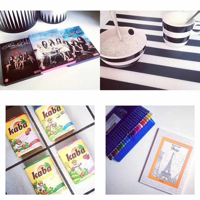 pretty little liars season 1 2 3 dvd boxes, ikea stripes, kaba drink, coloringbook for adults