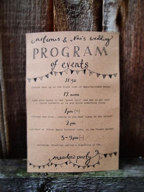 Wedding Stationery Inspiration: Day of Itineraries