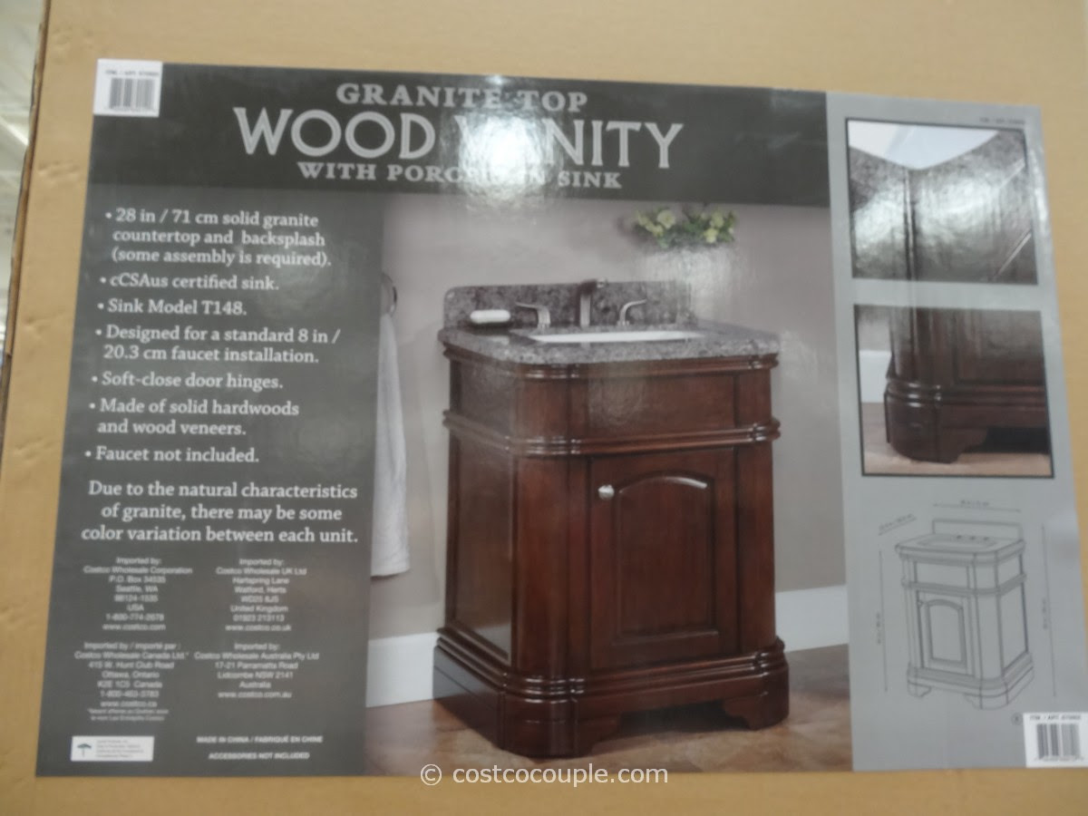 Lanza 28-Inch Single Sink Vanity With Granite Top