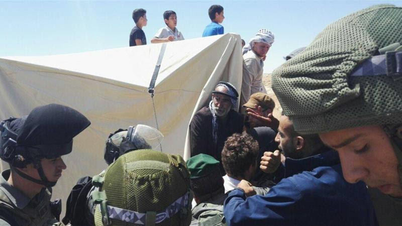 Campo di protesta di Sarura. (Fonte foto: al-Jazeera. Operation Dove/Elia)