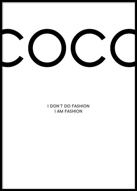 Affiche Chanel | Poster avec citation de Coco Chanel