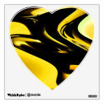 Abstract Yellow Heart Wall Decal