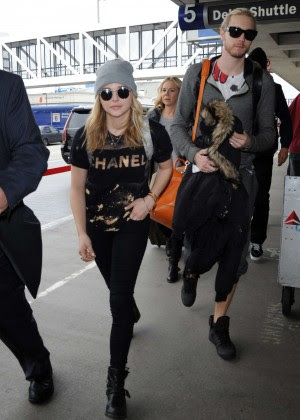 Chloe Moretz at LAX Airport -08