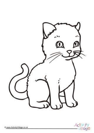 cat colouring pages