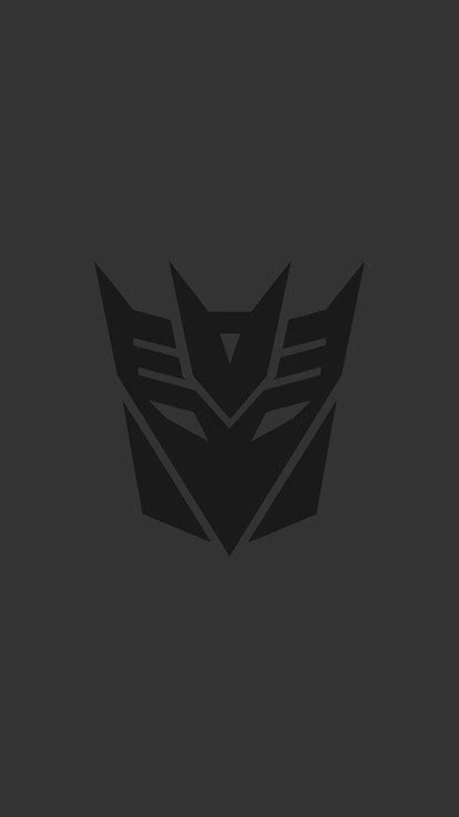 black minimalistic transformers dark simple decepticons