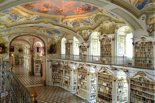 Library hall, Admont Abbey — Admont, Austria This is the largest monastic library in the world. → [meagannnn-reblog, thepaisleypony, gatekeeper, ryannjoy & apassingfeeling]