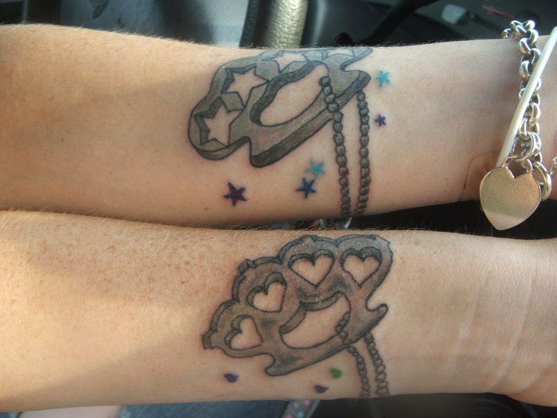 Stars Hearts And Brass Knuckles Tattoo Design Tattoomagz