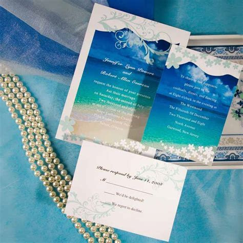 Beach Theme Wedding Invitations Ideas   Wedding and Bridal