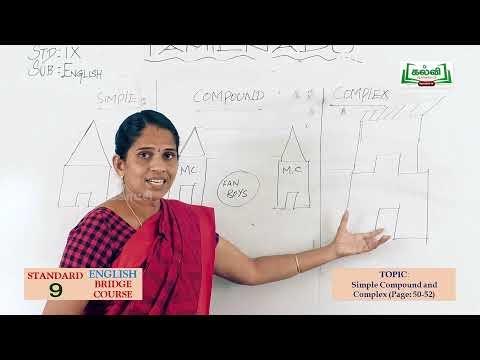 9th English Bridge course Conditional sentence Simple compound Day 9, 10  Kalvi TV