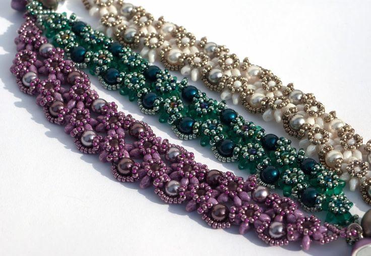 PrettyNett - unique handmade beaded jewelry: Anleitung für Armband Edelweiß / Beading Pattern bracelet Edelweiss