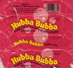 Original Hubba Bubba gum wrapper