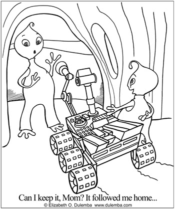 dulemba Coloring Page Tuesday Mars Rover