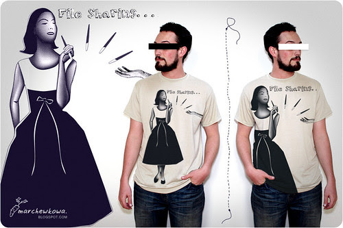 "♥ Retro ""File Sharing"" - tee design"