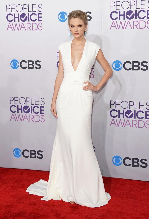 Taylor Swift em prêmio em Los Angeles, nos EUA (Foto: Jason Merritt/ Getty Images/ Agência)