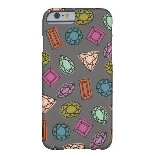 Gems Phone Case - Charcoal - Zazzle