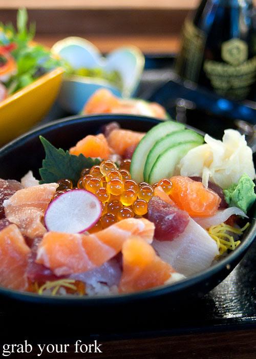 ikura salmon roe at yebisu izakaya, regent place sydney