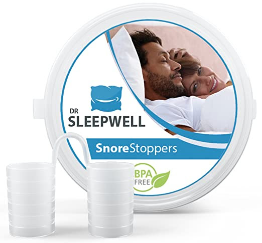 Best Anti Snoring Device - Advanced Sleep Apnea Relief - Most Comfortable Stop Snoring Solution - 4 Premium Nasal Dilators - 100% Satisfaction Guaranteed - Aid for High Sleeping Quality