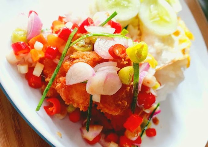 Resep Ikan Patin Crispy Sambal Matah Lezat