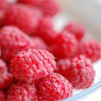 raspberries and chocolate