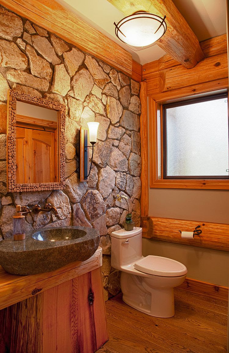 Exquisite & Inspired Bathrooms With Stone Walls ...