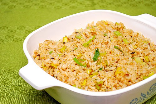 Instant Pot: Leek & Garlic Rice Pilaf