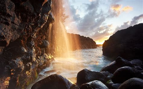 waterfall river cliff stones wallpapers waterfall