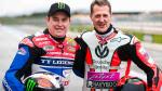 Michael Schumacher rides a Ducati 1199 Panigale