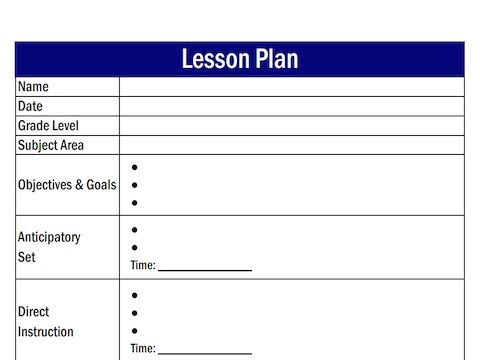 What is a Lesson Plan Template? | Lesson plan templates, What is ...