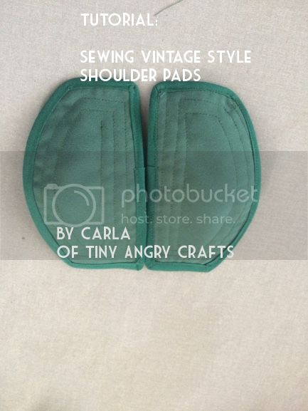TinyAngryCrafts, 1940s style shoulder pad tutorial