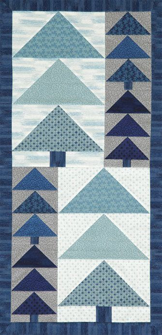 Combine shades of blue, white, and gray to create a wintertime wall hanging that lasts well past the holiday season.